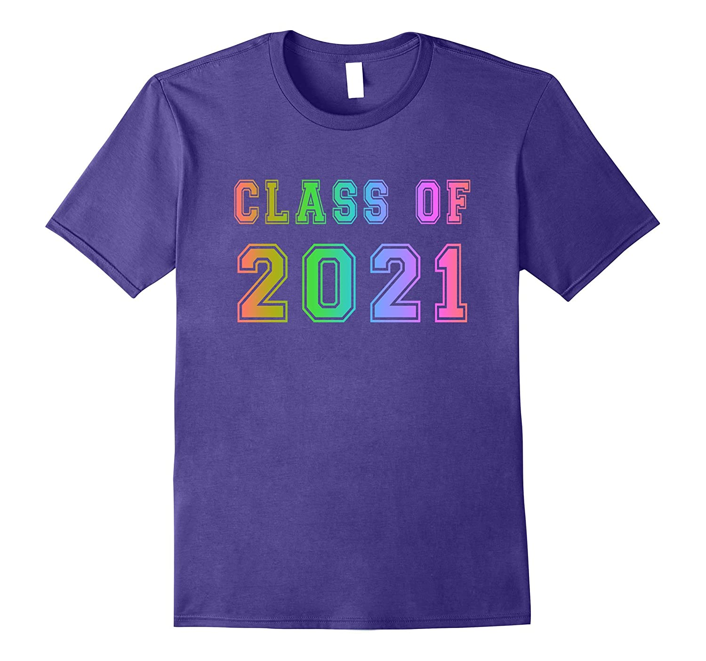 Class Of 2021 High School Graduation Date Rainbow T-Shirt-TH
