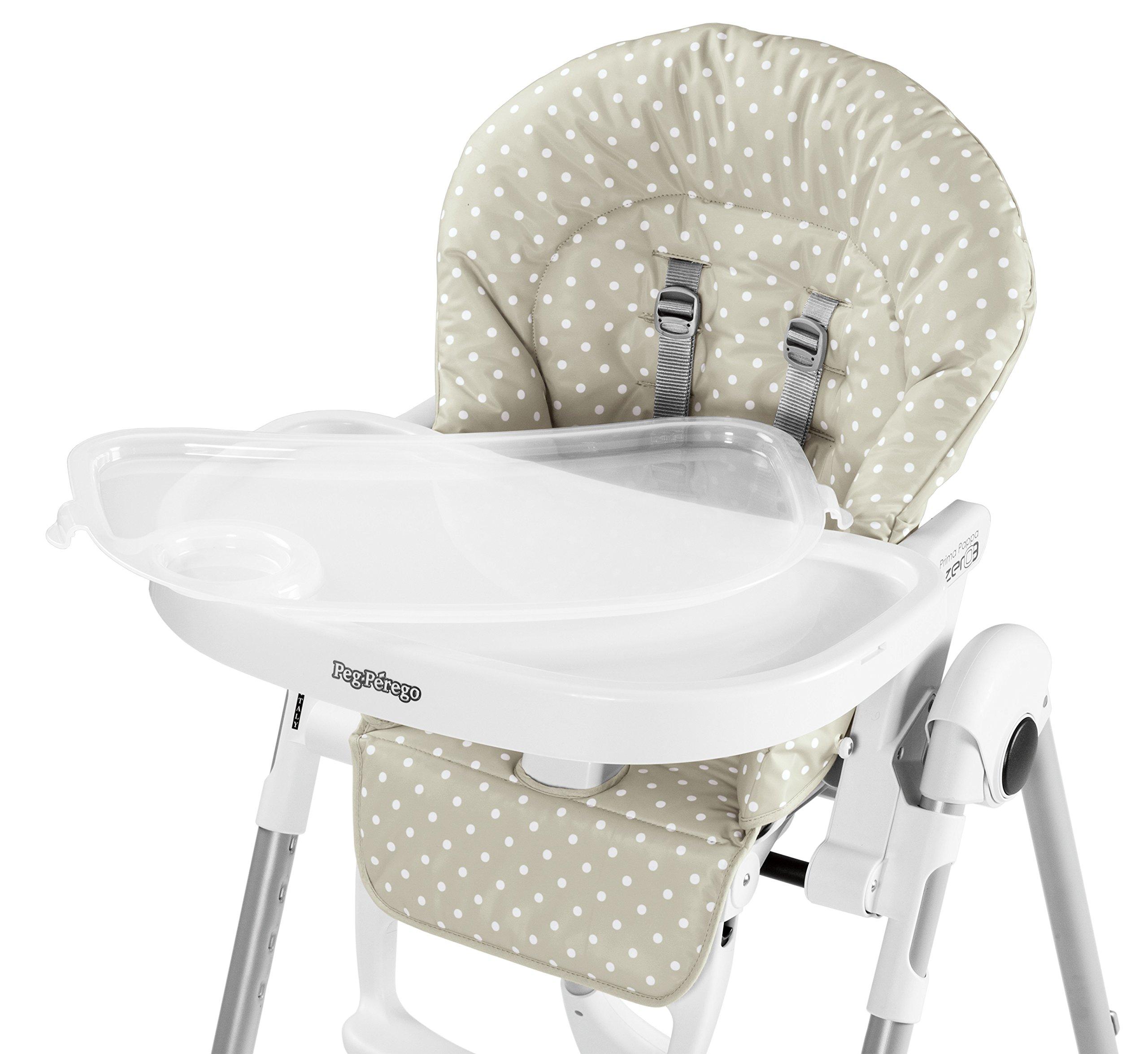 Peg Perego USA Prima Pappa Zero 3 High Chair, Baby Dot Beige