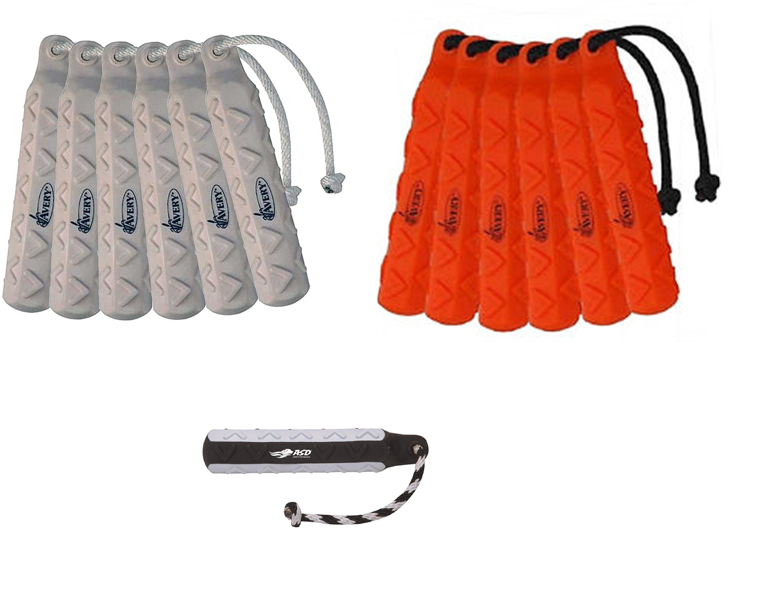 Avery Sporting Dog 2in HexaBumper Trainer Orange, White , Flasher Pack of 6 Each by Avery Outdoors Inc (Image #1)