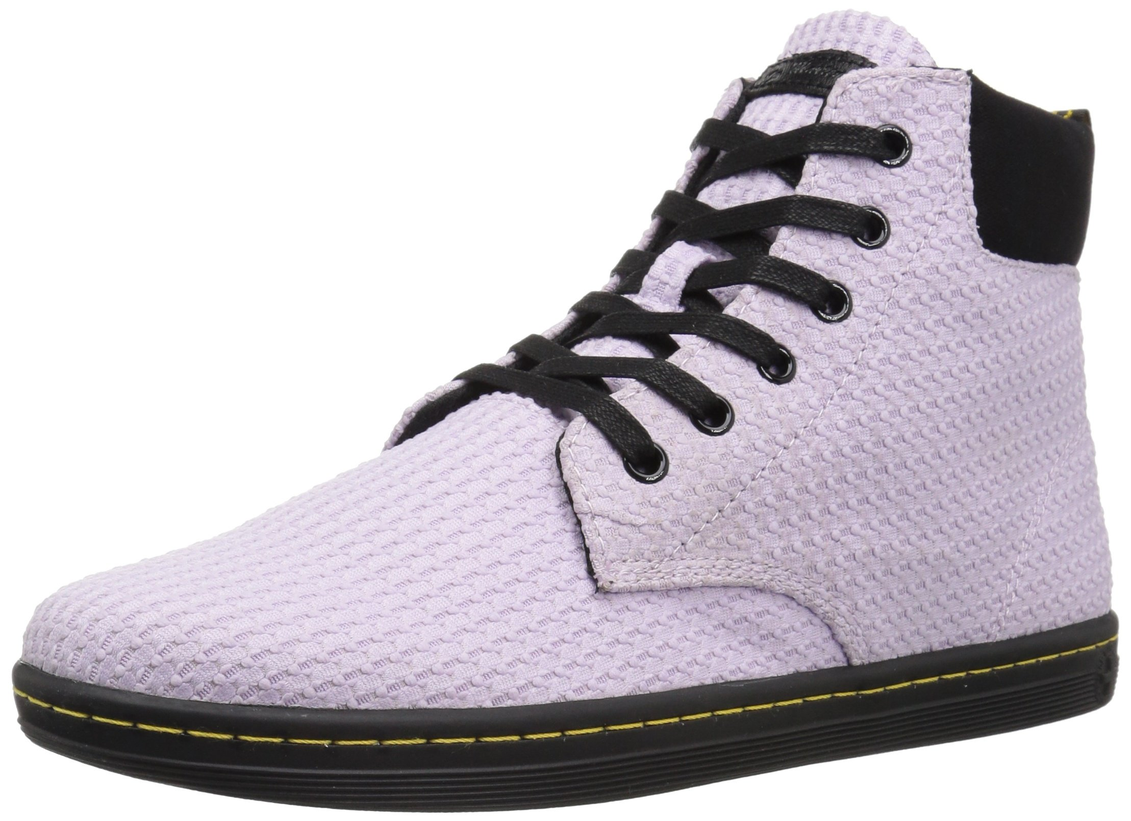 Dr. Martens Women's Maelly WC Fashion Boot, Orchid Purple+Black Waffle Cotton+Fine Canvas, 4 Medium UK (6 US)