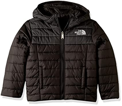 4f0bb7159c11 The North Face Boy s Reversible Perrito Jacket - TNF Black Reflective Grid  - XXS