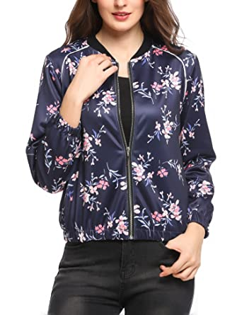 buy online faa86 7d566 Bomberjacke Blumen Blüten Flowers Floral Jacke Strick Damen ...