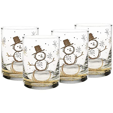 97d8663e4acd Image Unavailable. Image not available for. Color  Culver Gold 22k 14-Ounce  Double Old Fashioned Glass Set ...
