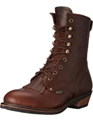 AdTec Men's 9-Inch Steel-Toe Packer Boot