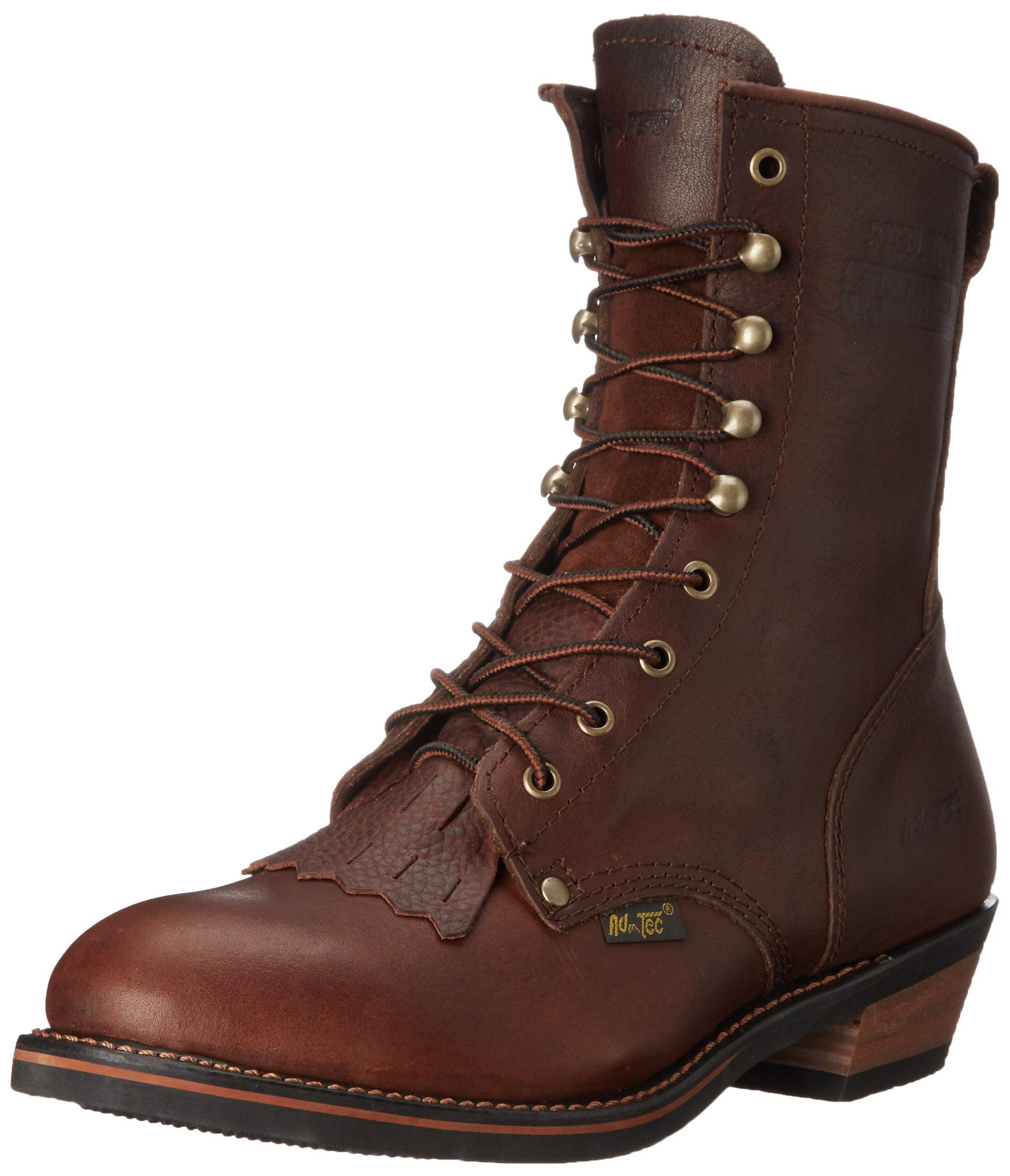 Adtec Men's 9 inch Steel Toe Packer Boot, Chestnut, 7.5 M US by Adtec