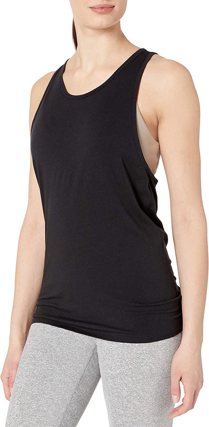 Amazon Brand - Core 10 Women's Pima Cotton Open Back Tie Racerback