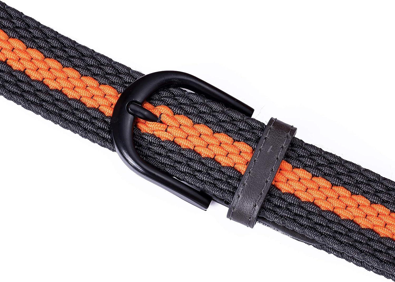 Cintura elastica intrecciata con fibbia ovale Fibbia nera con fibbia in pelle con uomo//donna Junior 7 taglie 12 colori