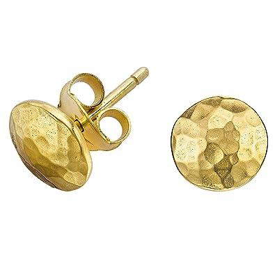 Dower & Hall Nomad Beaten Star Stud Earrings CWC6b6