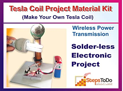 Buy safal tesla coil wireless transmission diy kit on breadboard safal tesla coil wireless transmission diy kit on breadboard science school project with solutioingenieria Gallery