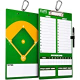 Elite Clipboards Dry Erase Coaches Clipboard | Double-Sided Coach Marker Board for Basketball Baseball Football Soccer…