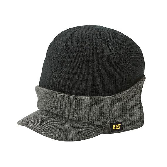c1d5f086a5118 Caterpillar - Bonnet avec visière - Homme (Taille unigue) (Graphite/Noir):  Amazon.fr: Vêtements et accessoires