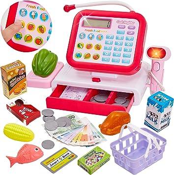 Registrierkasse Kaufladen Kinder mit Kasse Scanner Spiel