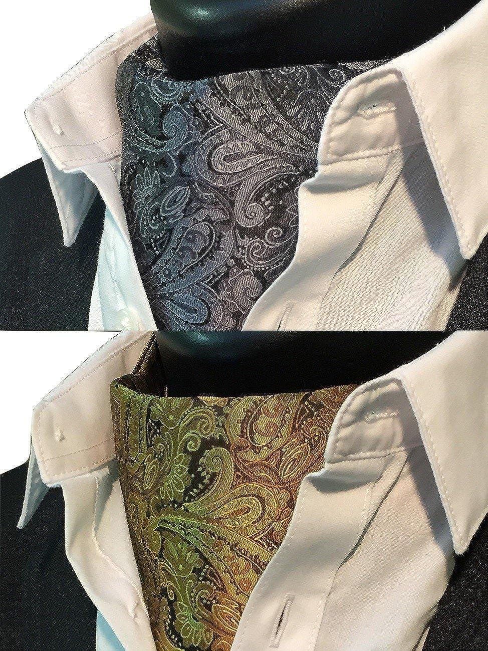 RAVENHILL Men/'s Paisley Self-tied Cravat Ascot 2-Pack Combo