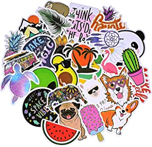 Stickers for Water Bottles Big 30 Pcs, Cute Trendy Stickers for Teens, Girls, Adults Perfect for Waterbottle, Laptop Skateboard Phone Travel Vinyl Waterproof Stickers (Pink - 8)