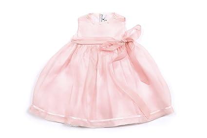chiaraluna; Vestido Bimba Ocasiones Especiales; Rosa; Organza Pura Seda; Rosas bordadas a