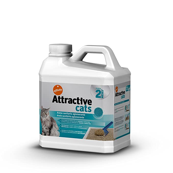 Attractive Arena Aglomerante para Gatos - 6 kg: Amazon.es ...