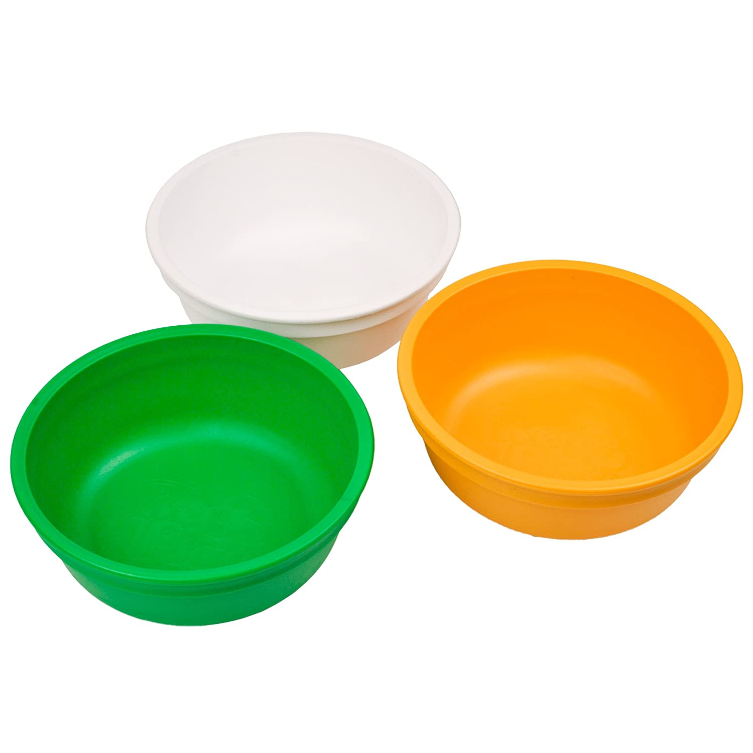 Re-Play Made in The USA 3pk Bowls for Easy Baby, Toddler, and Child Feeding - Bright Pink, Purple, Blush (Princess) Re-Think It