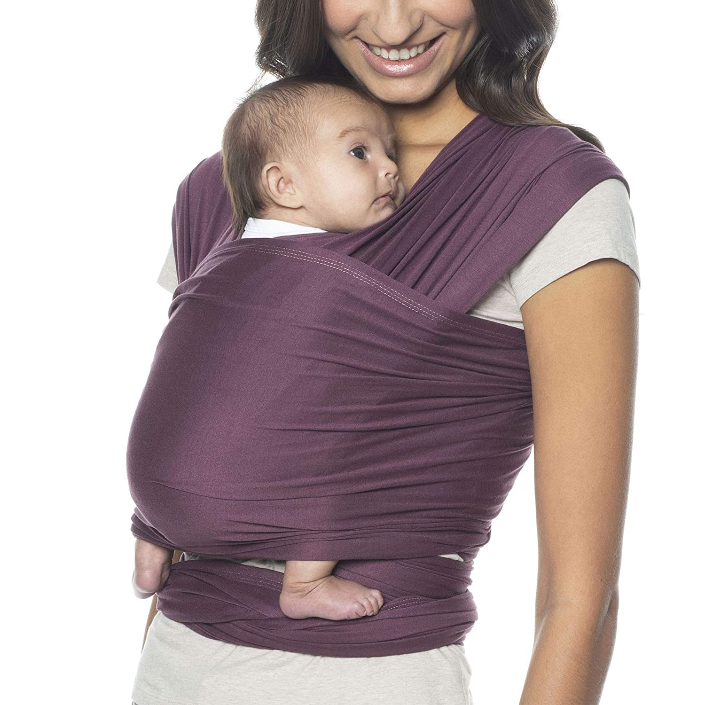 Ergobaby Aura Wrap Award Winning Ergonomic Soft And Light Weight Easy To Tie For Newborns To