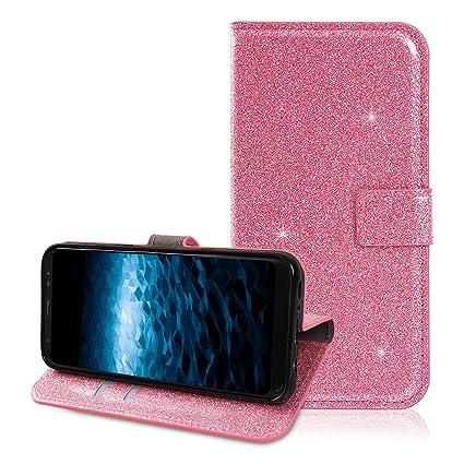 Moon mood® Funda Galaxy G9500 con Tapas, Galaxy S8 Carcasa Piel, Magnético Funda Libro de ...