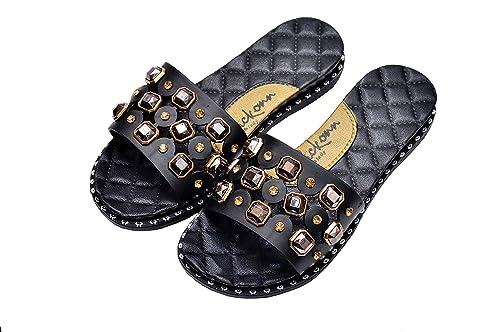 105004bb8 KICKONN LADY Designer Soft Flip-Flop Slide Slipper for Women   Girls -  (Black