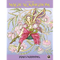 A Coloring Book: Magical Kingdom: An adult coloring book with 40 assorted pictures of elves, princesses, mermaids, fairies, imps, and their mysterious homes