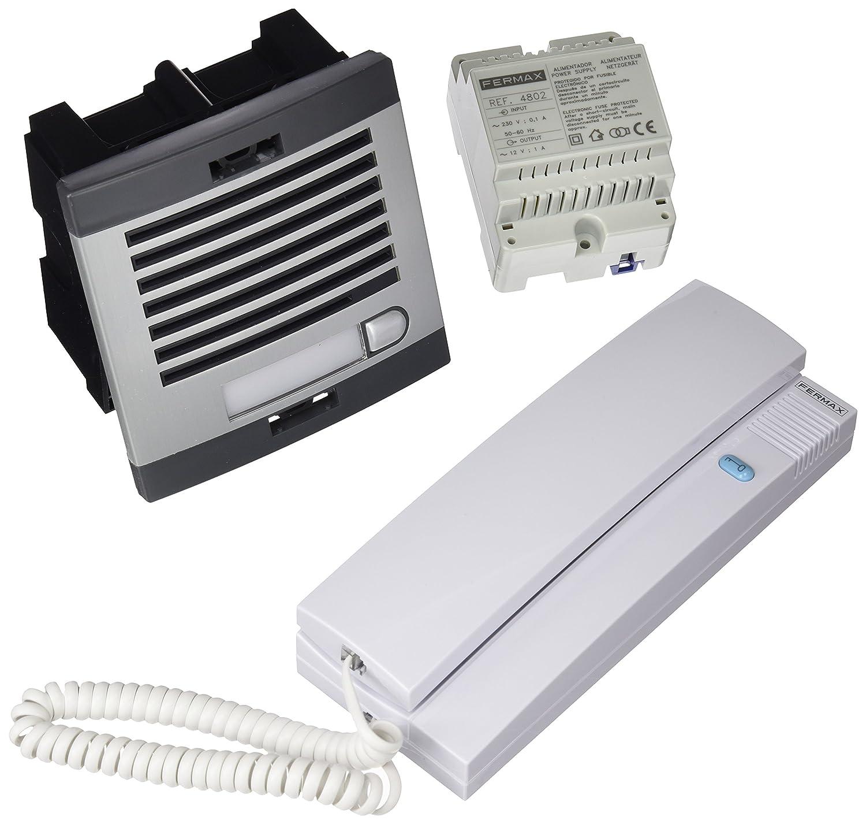 Fermax 6201 - Kit portero automático, 1 línea, color gris y negro: Amazon.es: Bricolaje y herramientas