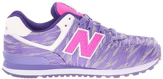New Balance KL574 Summer Waves G Running Shoe (Big Kid), Purple/Purple, 23.5 M EU