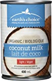 Earth's Choice Organic Coconut Milk Light, 12-Count of 400ml