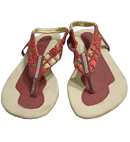d2e9fc234 Port Women's Multicolor Party Wear Sandal (Size 5 UK/IND): Buy ...