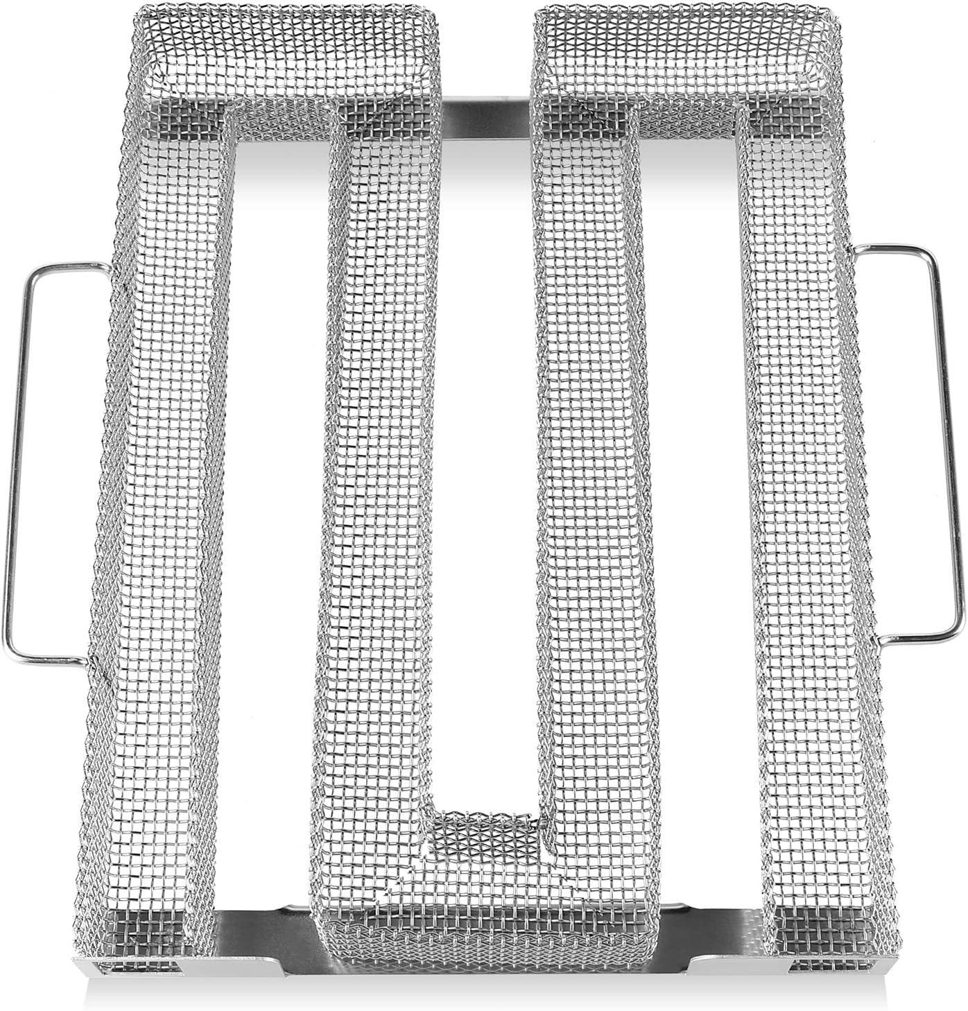FIXKIT Generador de Humo Frío, Ahumador de Barbacoa Portátil de Acero Inoxidable, Tipo M, para Pescado, Carne y Verduras Ahumadas