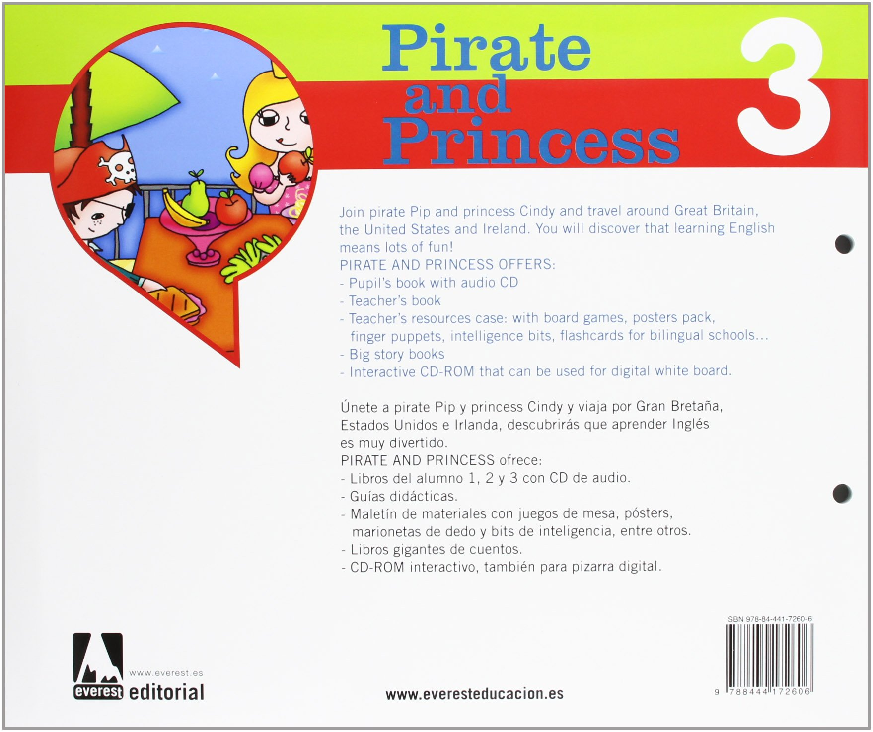 Inglés Pirate and Princess 5 años: 9788444172606: Amazon.com ...