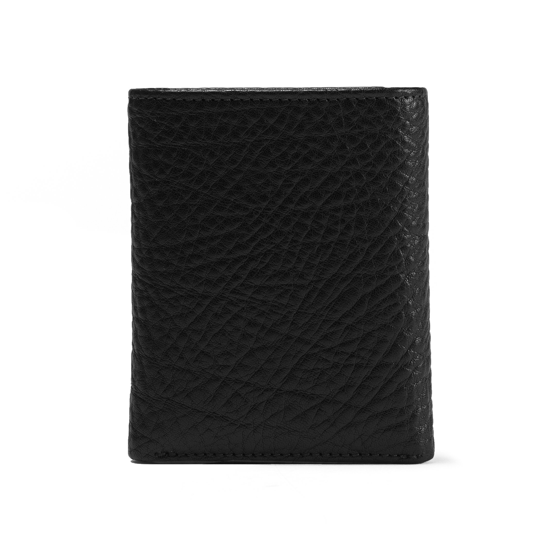 Trifold with Card Wallet - Full Grain Italian Leather Leather - Ebony (black) by Leatherology (Image #7)