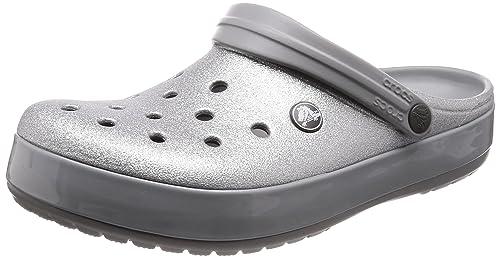 86a21b3a4 Crocs Unisex Adults  Crocband Glitter Clog  Amazon.co.uk  Shoes   Bags