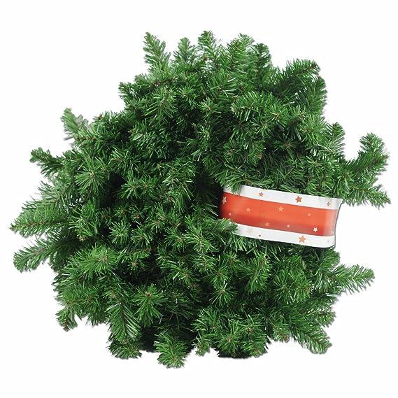XXL Tannengirlande aus Kunststoff / elastische Tannenzweiggirlande 540 cm / Adventsdekoration für innen und außen / Weihnacht