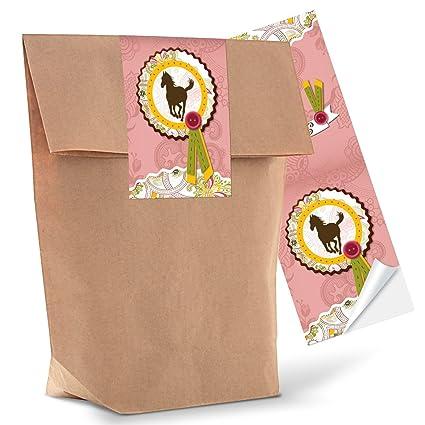 10 bolsas pequeñas para regalo de papel marrón + 10 ...