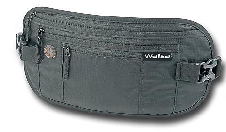 Walisa Flache Bauchtasche/Hüfttasche/Geldgürtel mit RFID Blocker Sporttaschen & Rucksäcke