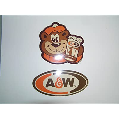 a & w root beer STICKER a&w bear advertisement sticker set of 2: Toys & Games