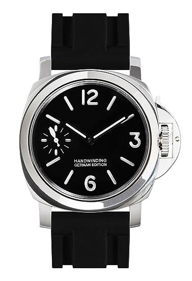 PARNIS 9076 clásica mano aufzugs Reloj 44 mm de reloj de pulsera para hombre mecánico Super