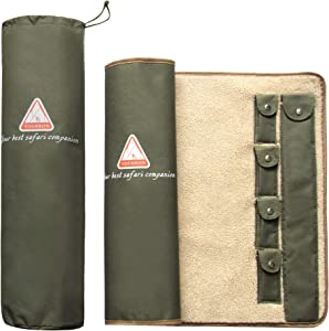 Tourbon Gun Rifle Roll-up Cleaning MAT Pad Shooting Hunting Gun Tool Kit Fleece Lined