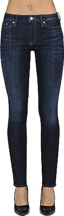 Calvin Klein Women's Straight Leg Denim Jeans, Dark Used