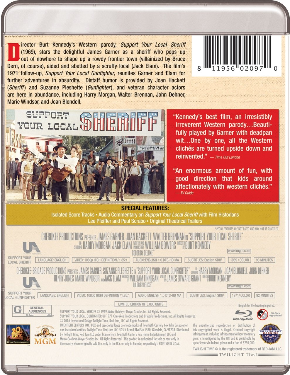 amazon com support your local sheriff [1969] support your localamazon com support your local sheriff [1969] support your local gunfighter [1971] twilight time [blu ray] james garner, burt kennedy movies \u0026 tv