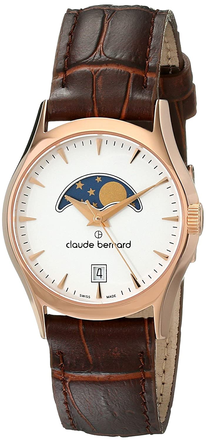 Amazon.com: Claude Bernard Women\'s 39010 37R BIR Classic Ladies Moon ...