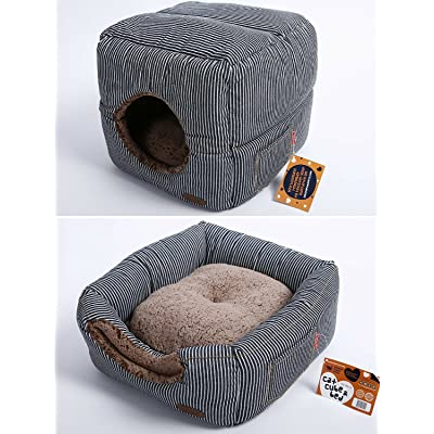 Buy Smiling Paws Cat House For Indoor Cats Quality Washable Small Pet Bed That Serves As A Cat Cave Cat Condo Or A Popup Cat Tent A 2 In 1
