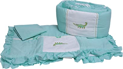 Baby Doll Bedding Gingham Mini Crib/ Port-a-Crib Bedding Set, Alligator
