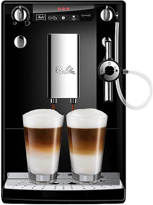 Melitta Caffeo Solo&Perfect Milk E957-101 - Cafetera Automática, Espumador Automático, un Sólo Toque, 1.2 Litros, Negro