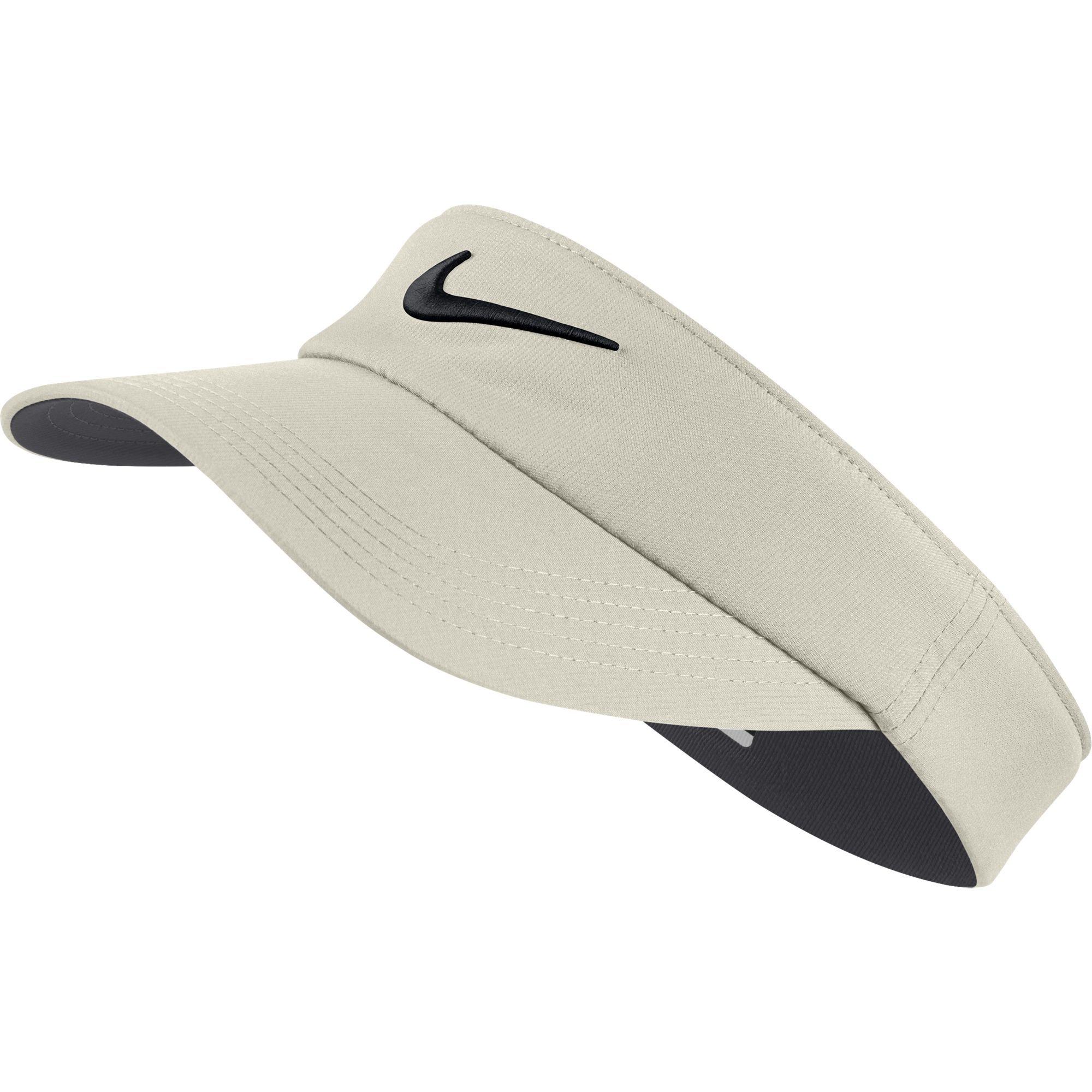 NIKE Unisex Core Golf Visor, Light Bone/Anthracite/Black, One Size