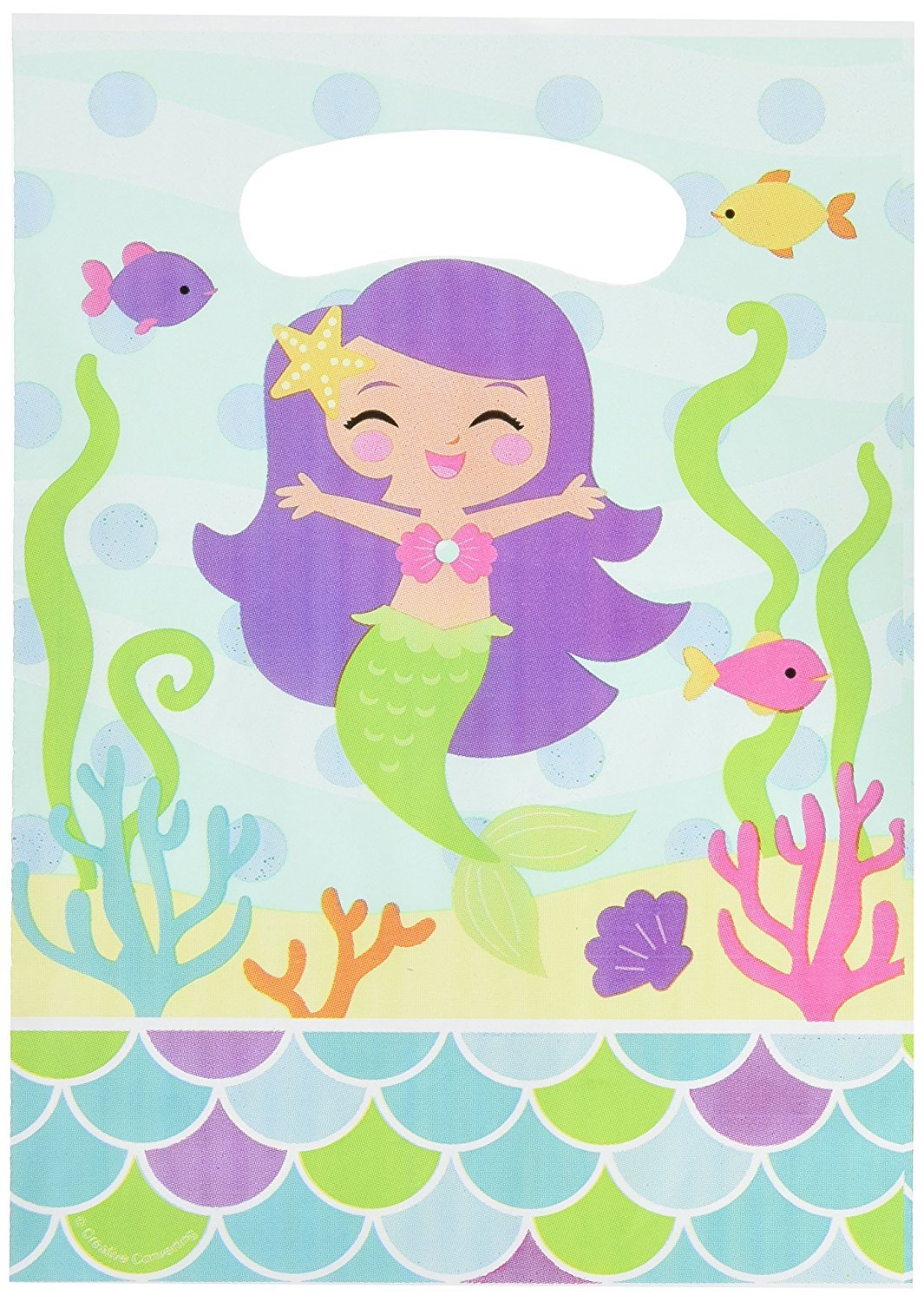 Creative Converting Mermaid Friends Party Favor Loot Bags 8 Count