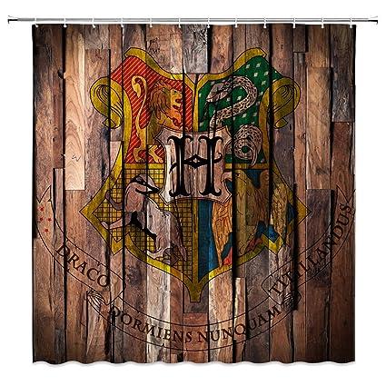 Amazon Feierman Harry Potter Shower Curtain Retro Sign Decor