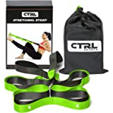 CTRL Sports Stretching Strap with Loops for Physical Therapy, Yoga, Exercise and Flexibility - Non Elastic Fitness…