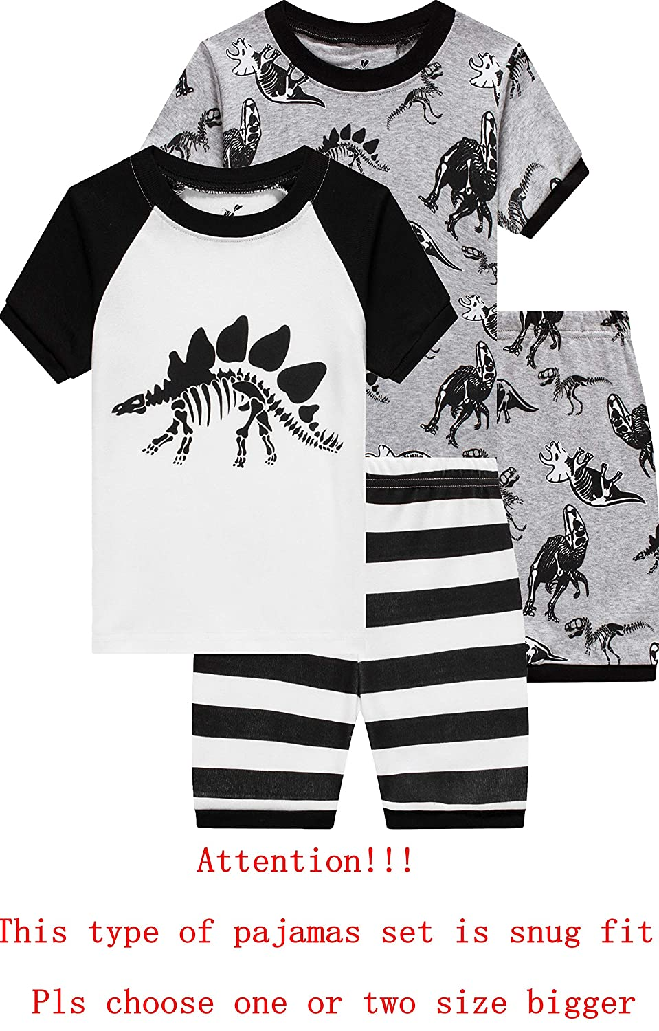 Pajamas for Boys Cotton Toddler Pjs 2 Piece Baby Clothes Sets Kids Sleepwear